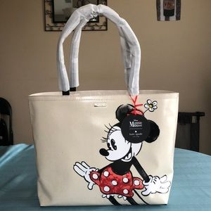 Kate Spade Minnie Mouse Francis Tote. NEW